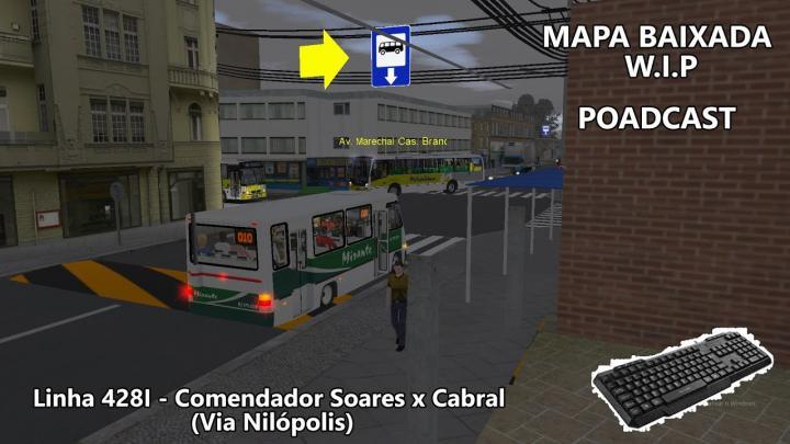 OMSI 2 Linha 428I C.Soares x Cabral – Mega Plus Nilopolitana [Mapa Baixada W.I.P]