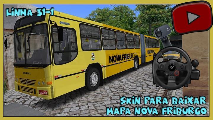 [OMSI 2] – MAPA NOVA FRIBURGO – Linha 31-1 ORFANATO – DFGT – SKIN PARA BAIXAR!