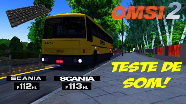 OMSI 2 – TESTE DE SOM SCANIA F112/113HL