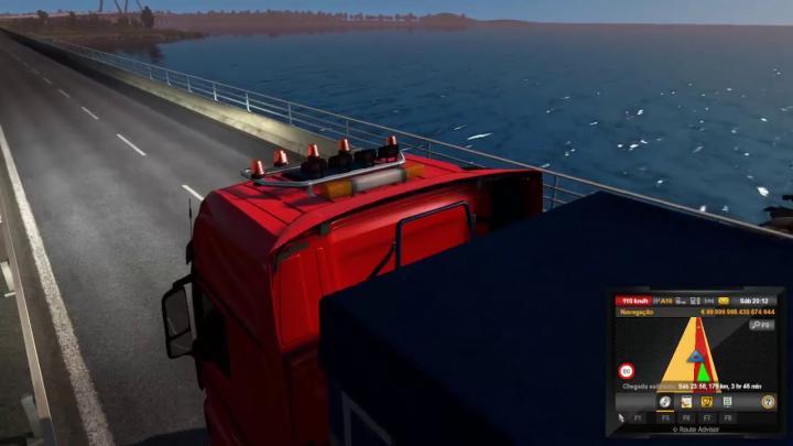 Previa das Games no Euro Truck Simulator 2 Entregando Carga Com o Parceiro