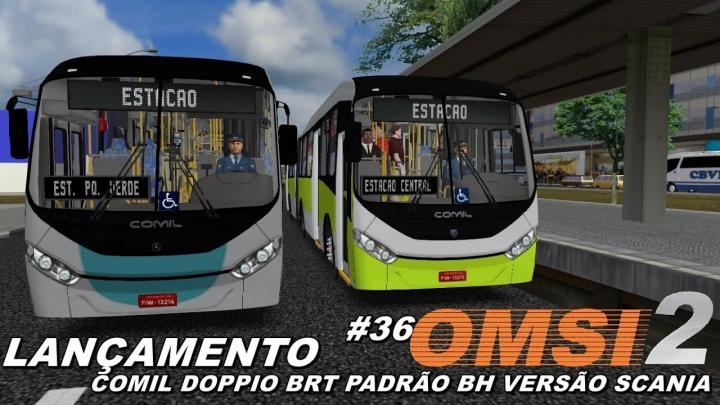 LANÇAMENTO COMIL DOPPIO BRT VERSÃO SCANIA OMSI 2 #36