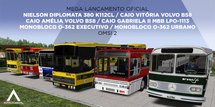 Ronaldo Aguial – Mega Lançamento – Seis novos ônibus para OMSI 2