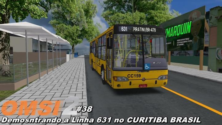 Demostração da Linha 631 no Curitiba Brasil OMSI 2 #38