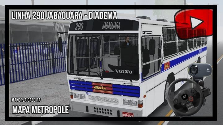 [OMSI 2] – PROJETO METROPOLE – LINHA 290 – Caio Victoria Aguiar – DFGT- Manopla caseira – Freio AR