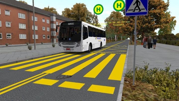 Neobus Mega Plus OF-1721 OMSI2 Mapa Fikcyjny Szczecin L289 Neobus Mega Plus OF-1721