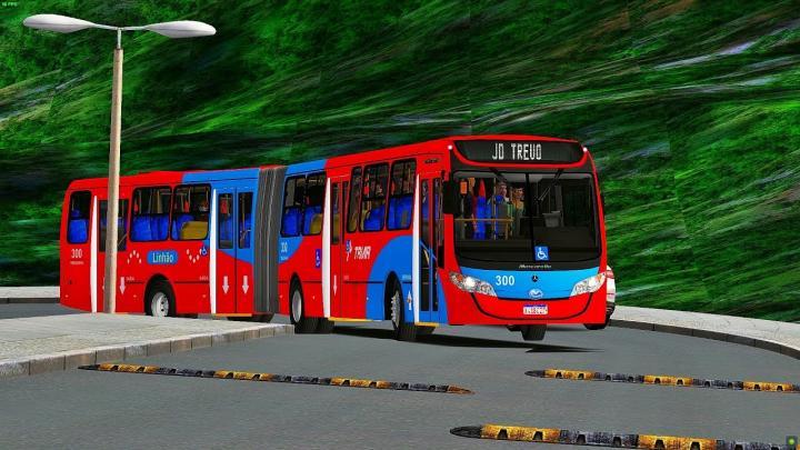 Viação Tindiqueira 300 (Fictício) Mascarello Gran Metro Mercedes Benz O500MA Bluetec 5|OMSI 2