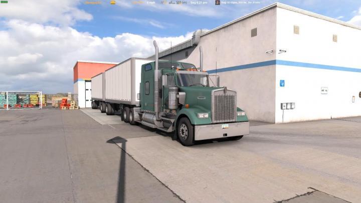 Wenworth W900 Carga de Paletes Vazios de Sierra Vista para Phoenix (American Truck Simulator)