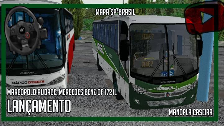 [OMSI 2] – Lançamento Marcopolo Audace, Mercedes Benz OF 1721L – SP-BRASIL.