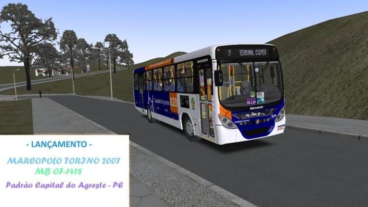 Lançamento Marcopolo T07 MBB OF-1418 Padrão Capital do Agreste – PE