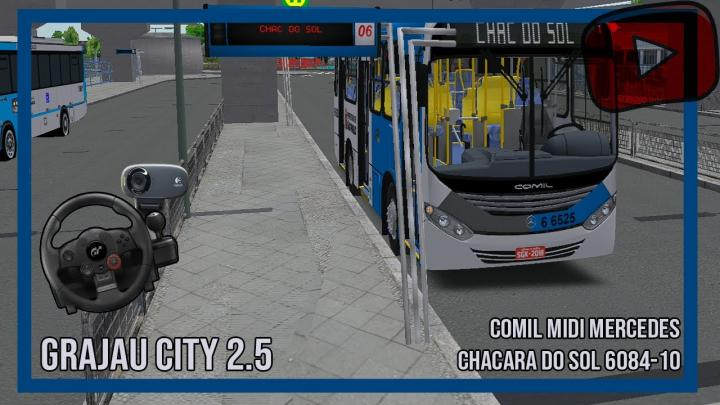 [OMSI 2] – GRAJAU CITY 2 .5 – Linha 6084 – CHAC. DO SOL – Midi 2013 MB OF 1519 COMIL
