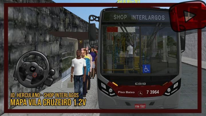 [OMSI 2] VILA CRUZEIRO V 1.2 – MILLENIUM BRT – LINHA 6006 – JD. HERCULABO – SHOP. INTERLAGOS