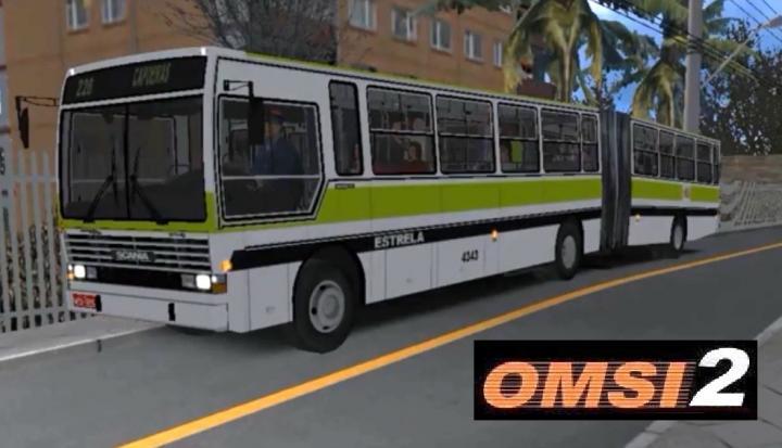 OMSI 2 – Mapa Floripa Fictício – Linha Capoeiras – Caio Vitória Scania Articulado Estrela (fictício)