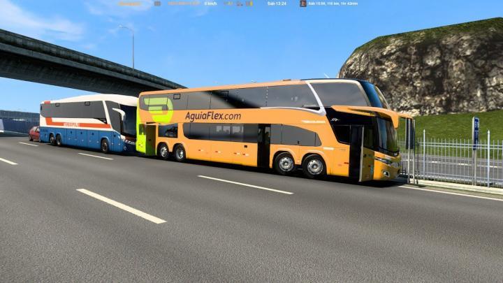 [ETS 2] BORA com AguiaFliex Marcopolo Paradiso G7 1800 DD Volvo B450R SP X RJ (DEU RUIM)