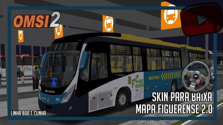 [OMSI 2] Mapa Figueirense 2.0 – Linha 800 T.Cunha – Skin Editada PARA baixar