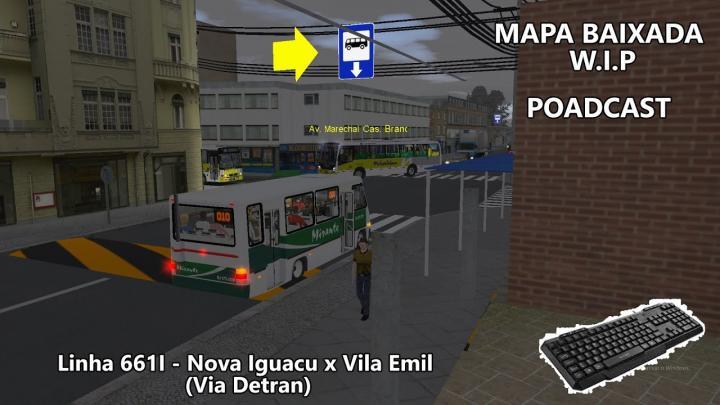 OMSI 2 Poadcast Linha 661I – FAS Caio Apache VIP IV OF-1721 BT5 Evanil – Mapa Baixada W.I.P