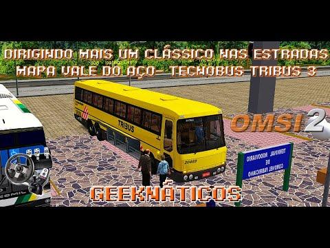 DIRIGINDO MAIS UM CLÁSSICO NAS ESTRADAS !! TECNOBUS TRIBUS III   MAPA VALE DO AÇO LINHA 803