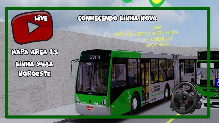 "[OMSI 2] – MAPA NOROESTE ""AREA 1"" #WIP- LINHA 948A nova linha"