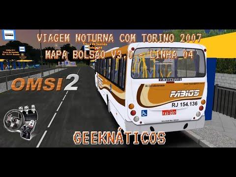 [OMSI 2] – VIAGEM NOTURNA COM O MARCOPOLO TORINO 2007 – MAPA BOLSÃO V3 – LINHA 04