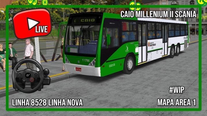 """MAPA NOROESTE """"AREA 1"""" #WIP- LINHA 8528 nova linha """"pedida no Terminal Cachoerinha"""