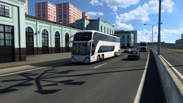 Auto Viação Catarinense Busscar Vissta Buss DD Scania K440IB 8×2 frota nova de Busscar 2021 ETS 2