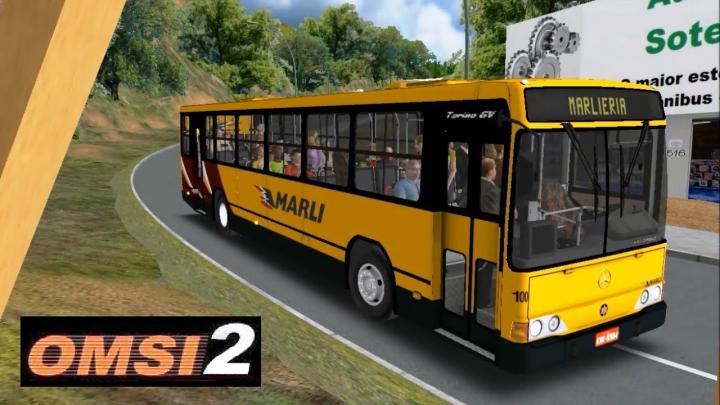 OMSI 2 – Mapa Vale do Aço – Linha Marliéria – Marcopolo Torino GV MB OH1621 Marli (Ex RJ)