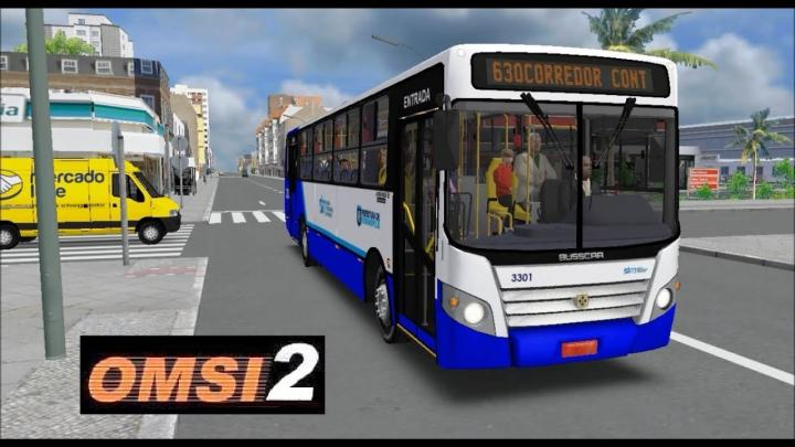 OMSI 2 – Mapa Floripa Fictício – Linha Corredor Continente – Busscar Urbanuss Ecoss Emflotur